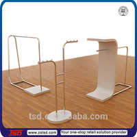TSD-M383 metal clothes rack, boutique display rack,custom floor stand clothes display stand for shop
