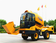 China HANK 1.2/4.0 drum concrete mixer for sale with self loading bucket