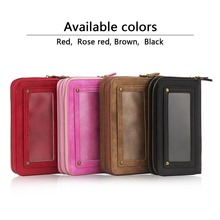 Card pockets designed for iPhone 7 smart phone wallet style leather case Mobile phone purse holster