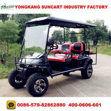 CE Approved 6 seater street legal go carts,6 person electric golf cart,off road golf buggy