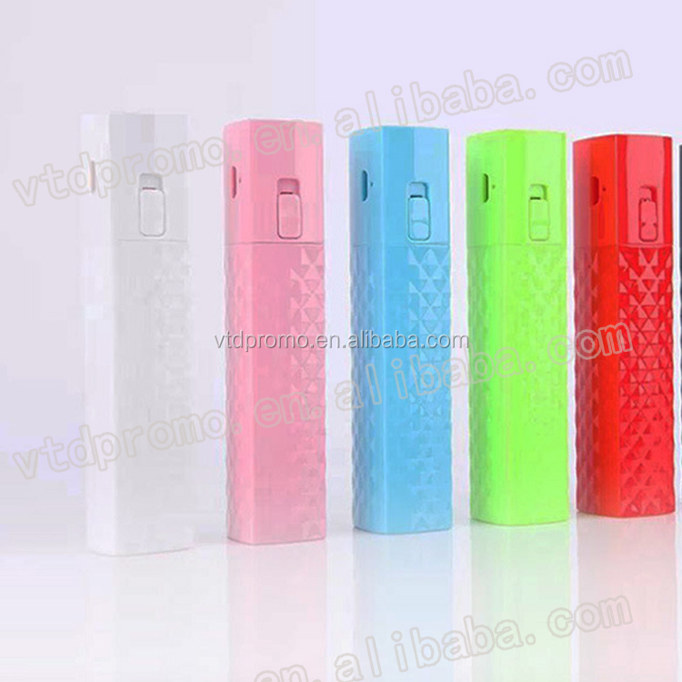 hot sale lipstick power bank 2600 mAh portable power