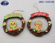 Easter wooden rattan wreath decoration JB02-13441AB
