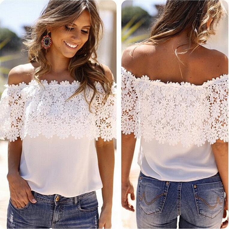 Wholesale Ladies Plain White Halter lace Boho Crop Tops From China