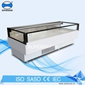 Top Open Commercial Supermarket Display Fridge commercial With Stainless Steel Cabinet