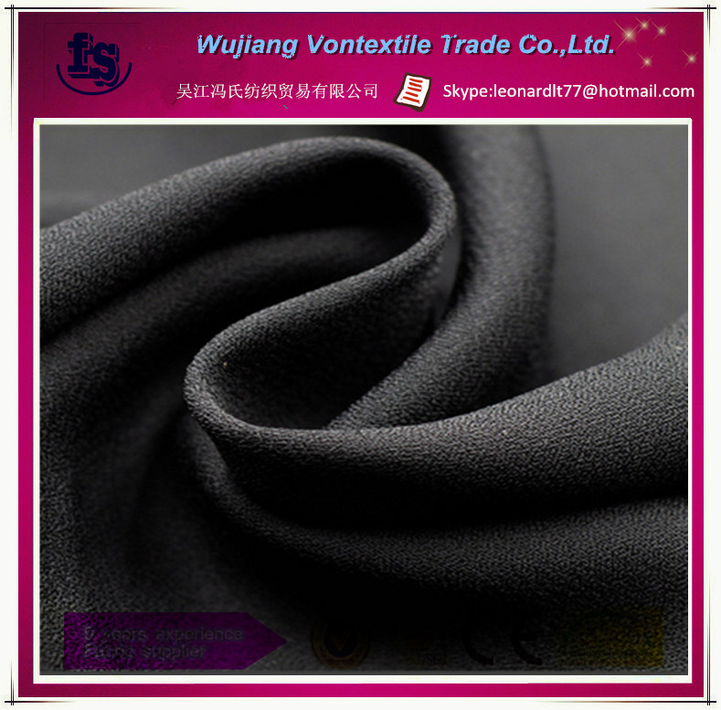 100% polyester fabric/ 75d high twist printed fabric/moss crepe fabric