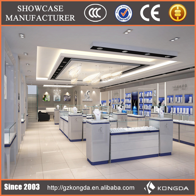 High quality OEM/ODM jewelry shop interior design and jewelry display furniture
