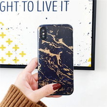 Newest Gold Arrow Black Rose Gold Marble Glitter Mobile Phone Case Cover for iPhone 8 / 7