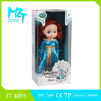(ODM/OEM)2016New !Eco-friendly PVC Collection 12 Inch Merida princess Christmas Barbie Doll ZT8805
