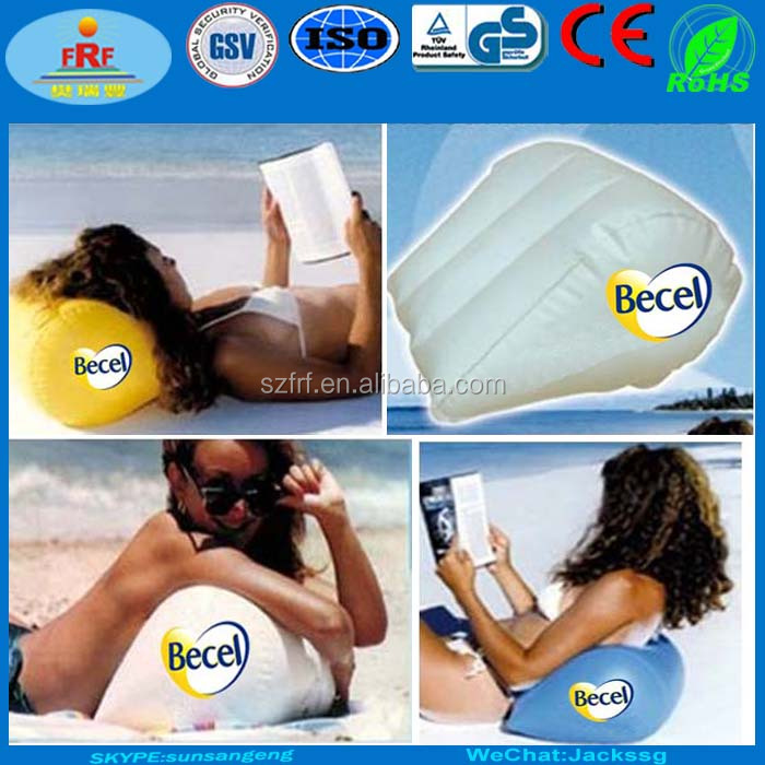Promotions Gifts Wedge Inflatable beach pillow