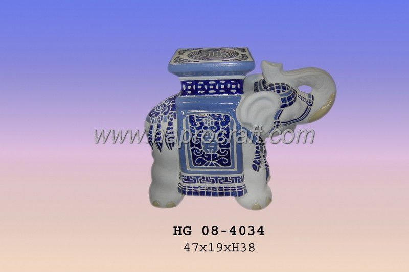 Ceramic Elephant without Stand (HG 08-4034)