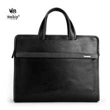 2014 Leisure Leather briefcase with Multifunctional Compartments and 14 inch laptop