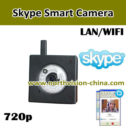 720P HD wireless camera for skype, IR night vision