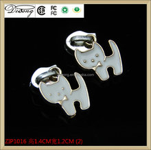 ZIP1016 custom designer metal zipper pull for bag accessory alibaba china supplier,key locking zipper sliders