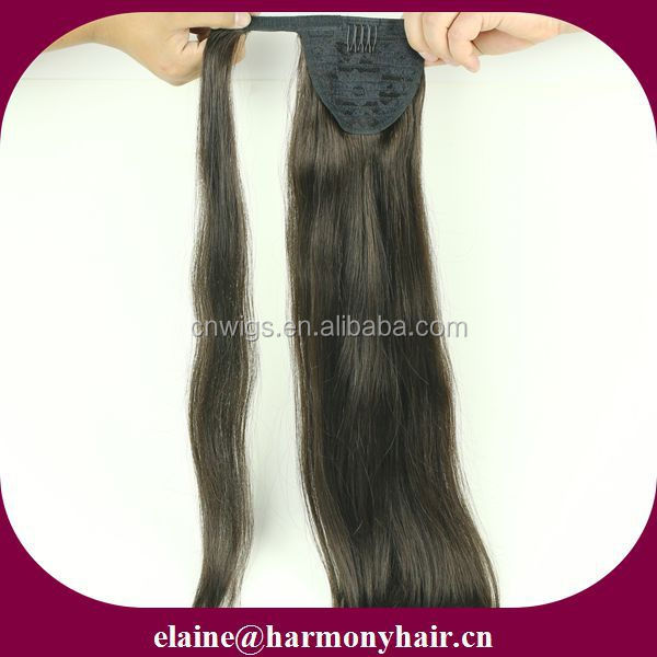 Quality remy clip in pony tail/wire hair pieces