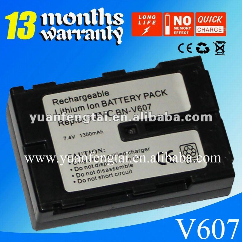 For JVC 7.4V compatible camcorder battery BN-V607