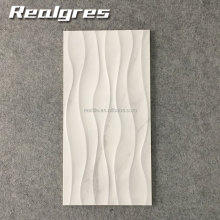 300*600 Wear Resistant White Wave Carrara Non Slip Tiles,Marble Look Ceramic Wall Tiles