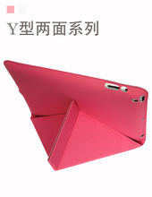Y Design Stylish Origami Magnetic Smart Leather Cover Case for tablet with sleep and wake function