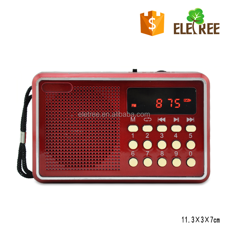 EL-H088U Retro portable digital fm multifunction mini radio receiver with TF usb card slot