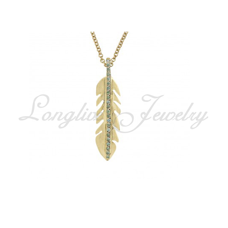 925 silver necklace feather