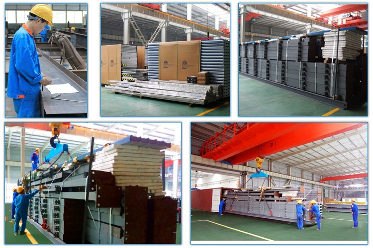 Fast build cheap corrugated color steel prefabricated warehouse building