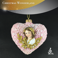 christmas decoration ball and Heart Shape Hanging christmas tree Ornament
