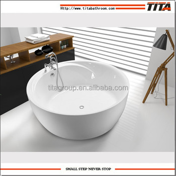 Cheap freestanding round used bathtub(TCB046D)