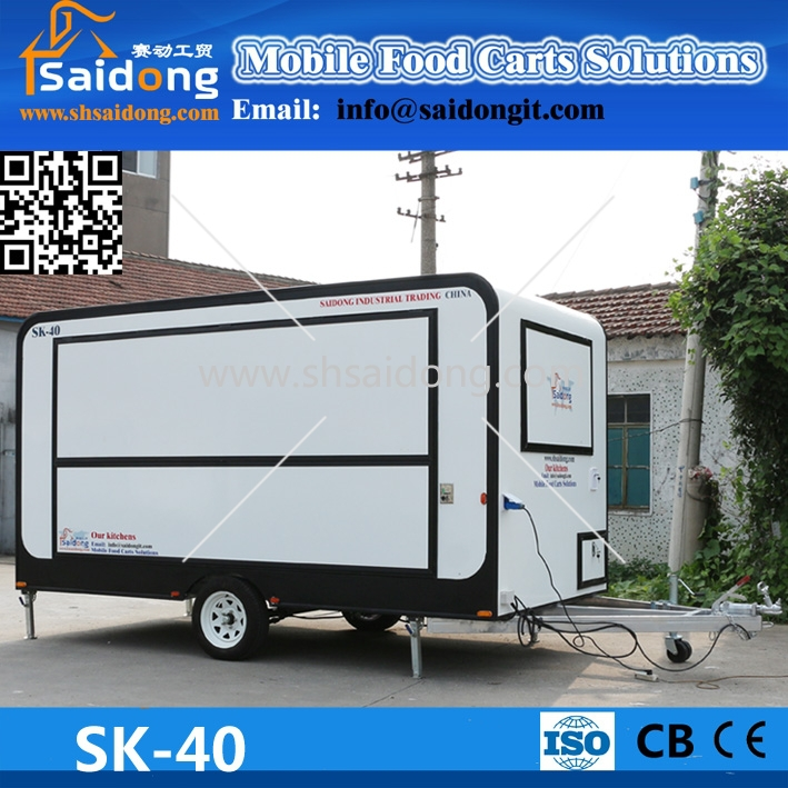 Commercial promotion price mobile fast food van/catering trailer for sale