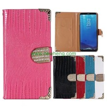 Crocodile Leather Wallet Flip Stand Phone Cover for Samsung Galaxy S8