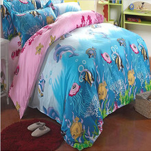 cartoon baby printed quilt duvet cover sets