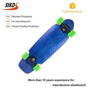 Wholesale single kick skate board factory china maple skateboard dye color layers OEM service
