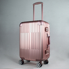 Luxury classic full aluminum magnesium alloy hard luggage trolley suitcase