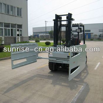 7 tons forklift with 5 tons pulp bale clamp