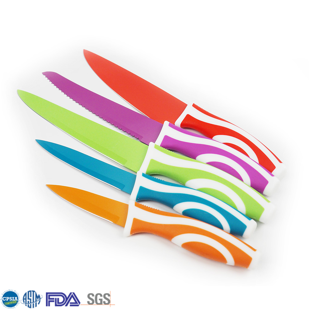 Cheap And Fine Colorful Pp&Tpr Wholesale Kitchen Knives
