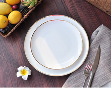 gold rim bone china dinner plate