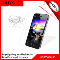HUYSHE anti broken tempered glass cell phone screen protector for iphone 4&for iphone 4s