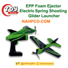 EPP Foam Ejector Electric Spring Shooting Glider Airplane Launcher Soarer Air-sailer Aerodone