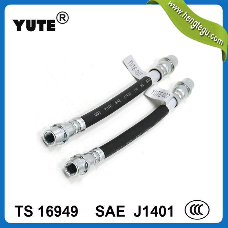YUTE sae j1401 1/8 inch hydraulic brake hose assembly with fittings
