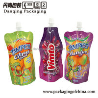 Poly Bag For Juice Spout Pouch,Food Packaging Spout Pouch for Juice/Lliquid Stand up Pouch with Spout
