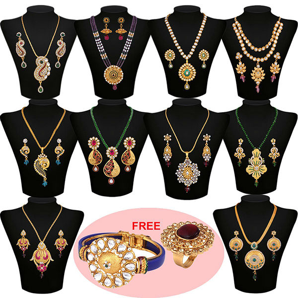 Urvashi 1 Gram Gold Plated Jewellery Collection