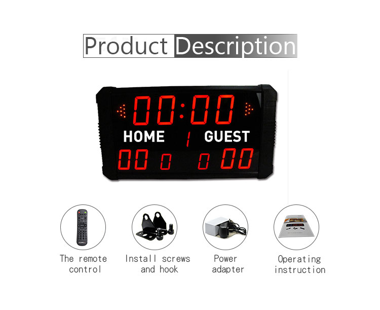 "[Ganxin]indoor use 11 digit 1.8""/2.3""/3"" led scoreboard scoring board basketball"