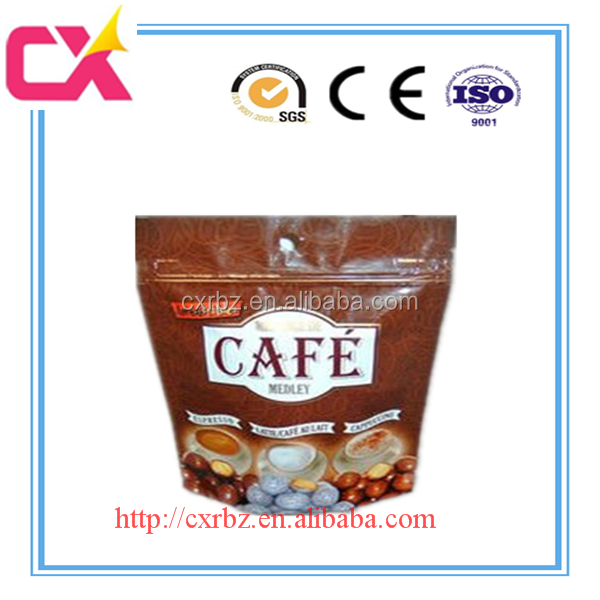 Stand up pouch bag with zipper for coffee /snack/candy/dry food and seafood