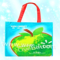 Wholesale promotional cheap custom shopping recycle non woven bag