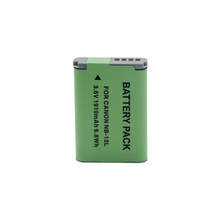 Factory price NB-12L For Canon PowerShot G1X N10 lithium camera battery pack NB12L
