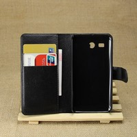 High quality flip leather cover case for huawei ascend y511