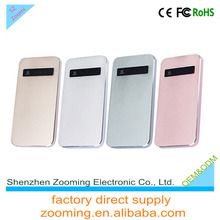 ZT-406 slim power bank 5000mah anker power bank case for galaxy note 3 for iphone wholesale usa