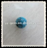 Semi-precious Gems Synthetic Turquoise Round Ball Gemstone