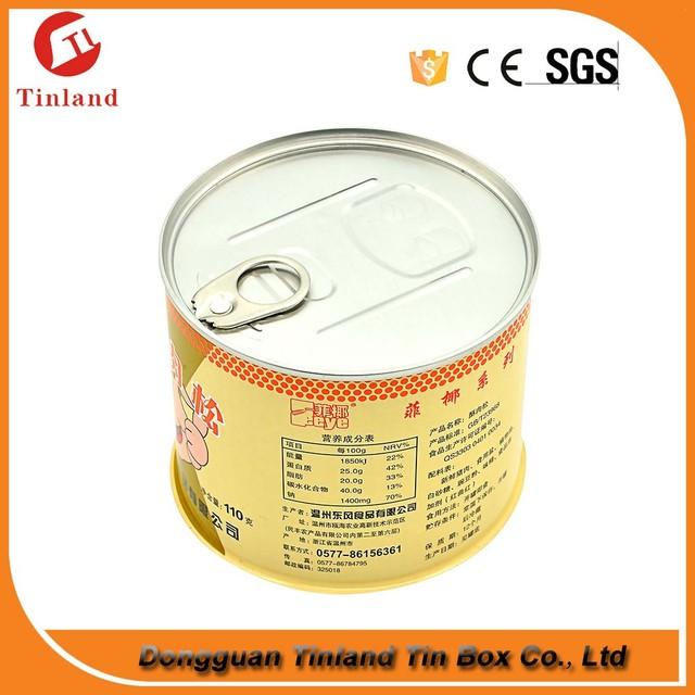 good quality round metal caviar tin can china manufacture