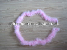 Decoration pink feather boa