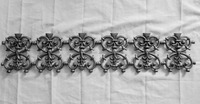 Cast Iron Flower Panel for Steel Fence/2015 Hot Products Decorative Garden Decoration