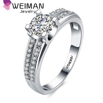 Fashion Simple Wedding Ring Designs Platinum Plated Aaa Zircon